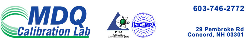Contact MDQ Calibration Lab
